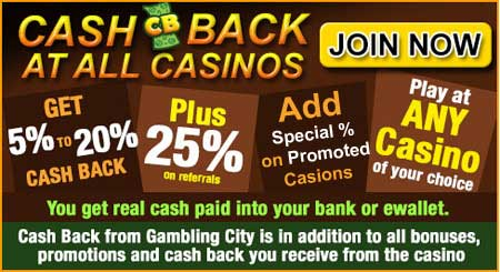 Cash Back from GamblingCity