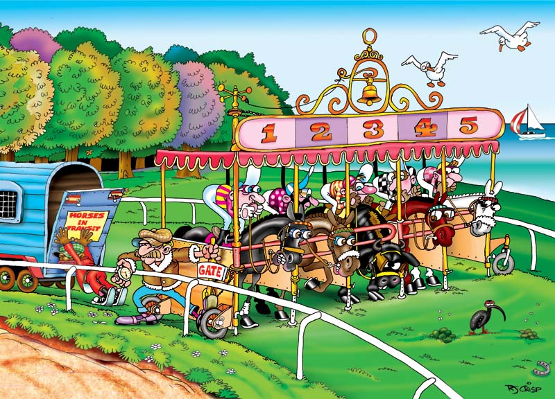 Horse Racing Art Toon