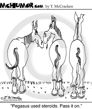 Horse Racing Cartoon