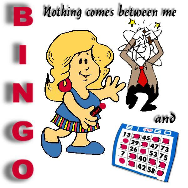 Nothing Between Me & Bingo Clip Art