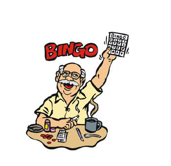 Coffee and Bingo Bingo Clip Art